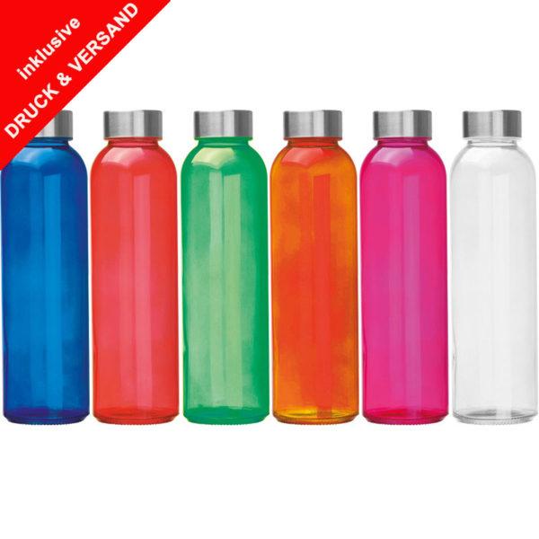Glasflasche mit Edelstahlverschluß