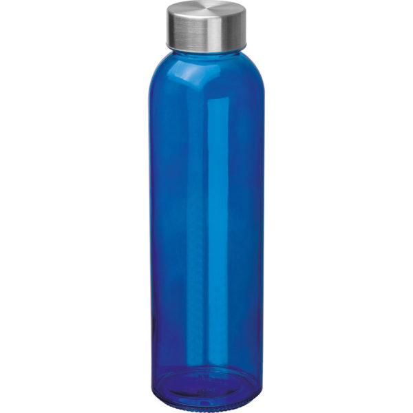 Glasflasche mit Edelstahlverschluß Blau