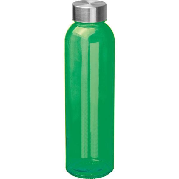 Glasflasche mit Edelstahlverschluß Grün