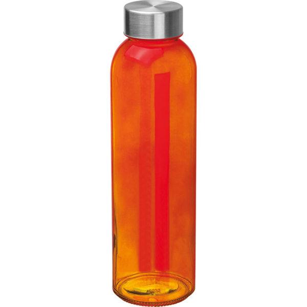 Glasflasche mit Edelstahlverschluß Orange
