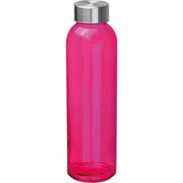 Glasflasche mit Edelstahlverschluß Pink