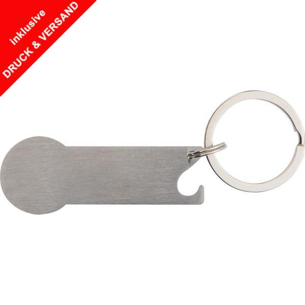 Schlüsselanhänger mit Einkaufschip Stickit